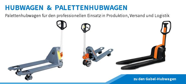 Hubwagen, Gabelhubwagen und Palettenhubwagen für den professionellen Einsatz in Versand, Logistik und Produktion