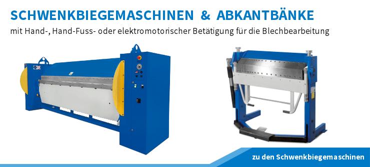 Schwenkbiegemaschinen, Abkantbänke, Kantbänke