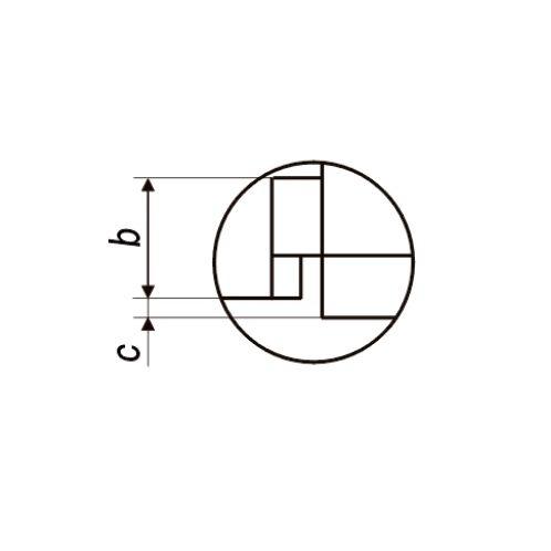 Dreipunkt Innenmessschrauben für Sacklochbohrungen 125-150 mm