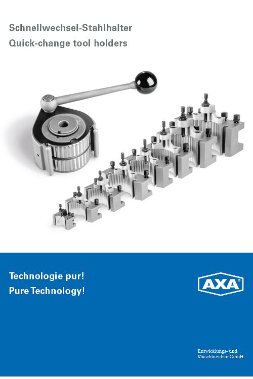 AXA Schnellwechsel-Stahlhalter für Drehmaschinen - Made in Germany